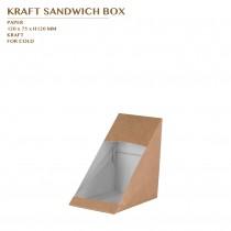 KRAFT SANDWICH BOX 500PCS/CTN