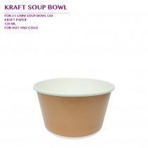 PRO-ORDER KRAFT SOUP BOWL 520ML 1000PCS/CTN