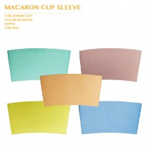 PRO-ORDER MACARON CUP SLEEVE Ø90MM COLOR RANDOM 1000PCS/CTN