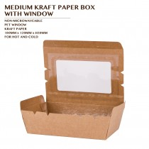 MEDIUM KRAFT PAPER BOX  WITH WINDOW 200PCS/CTN