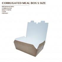 PRE-ORDER CORRUGATED MEAL BOX KRAFT S SIZE 1000PCS/CTN