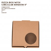 PRE-ORDER PIZZA BOX WITH CIRCULAR WINDOW 8""