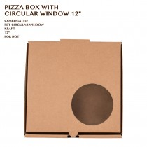 PRE-ORDER PIZZA BOX WITH CIRCULAR WINDOW 12""