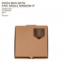 PRE-ORDER PIZZA BOX WITH FIVE ANGLE WINDOW 8""