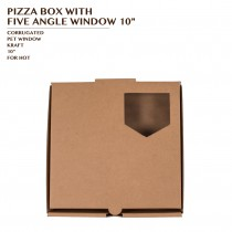 PRE-ORDER PIZZA BOX WITH FIVE ANGLE WINDOW 10""