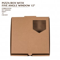 PRE-ORDER PIZZA BOX WITH FIVE ANGLE WINDOW 12""