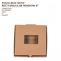 PRE-ORDER PIZZA BOX WITH RECTANGULAR WINDOW 8""