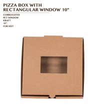 PRE-ORDER PIZZA BOX WITH RECTANGULAR WINDOW 10""