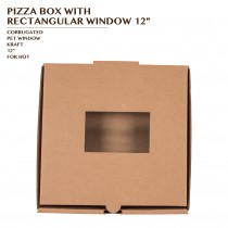 PRE-ORDER PIZZA BOX WITH RECTANGULAR WINDOW 12""
