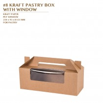 PRE-ORDER #8 KRAFT PASTRY BOX  WITH WINDOW