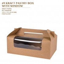 PRE-ORDER #9 KRAFT PASTRY BOX  WITH WINDOW