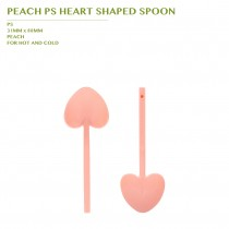 PRE-ORDER PEACH PS HEART SHAPED SPOON 3600PCS/CTN