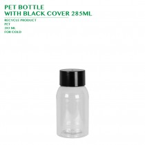 PRE-ORDER PET BOTTLE  WITH BLACK COVER 285ML