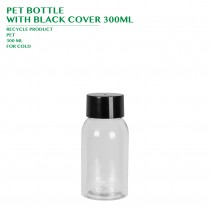 PRE-ORDER PET BOTTLE  WITH BLACK COVER 300ML