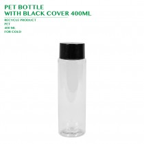 PET BOTTLE  WITH BLACK COVER 400ML 216PCS/CTN