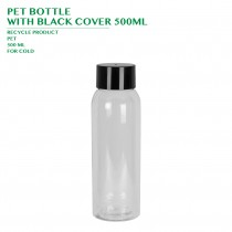 PET BOTTLE  WITH BLACK COVER 500ML 168PCS/CTN
