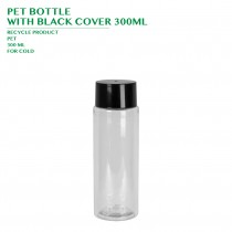 PET BOTTLE  WITH BLACK COVER 300ML 288PCS/CTN