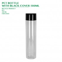 PRE-ORDER PET BOTTLE  WITH BLACK COVER 580ML