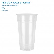 PRE-ORDER PET CUP 32OZ Ø107MM PCS/CTN