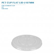 PRE-ORDER PET CUP FLAT LID Ø107MM PCS/CTN