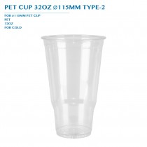 PRE-ORDER PET CUP 32OZ Ø115MM TYPE-2 PCS/CTN
