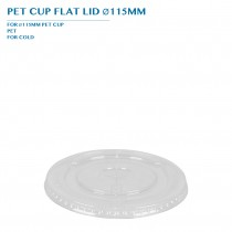 PRE-ORDER PET CUP FLAT LID Ø115MM PCS/CTN