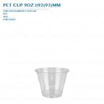PRE-ORDER PET CUP 9OZ Ø92(93)MM PCS/CTN