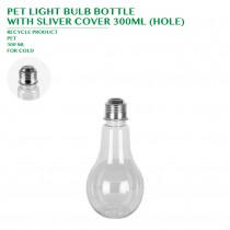 PRE-ORDER PET LIGHT BULB BOTTLE  WITH SLIVER COVER 300ML (HOLE)