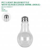 PET LIGHT BULB BOTTLE  WITH SLIVER COVER 500ML (HOLE) 320PCS/CTN