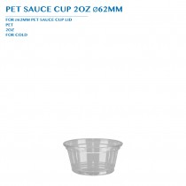 PET SAUCE CUP 2OZ Ø62MM PCS/CTN