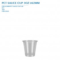PRE-ORDER PET SAUCE CUP 3OZ Ø62MM PCS/CTN