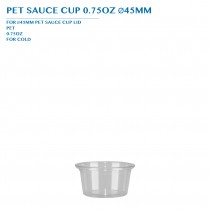 PRE-ORDER PET SAUCE CUP 0.75OZ Ø45MM PCS/CTN