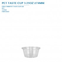PRE-ORDER PET TASTE CUP 3.25OZ Ø74MM PCS/CTN