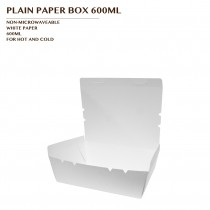 PRE-ORDER PLAIN PAPER BOX 600ML 600PCS/CTN