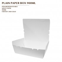 PLAIN PAPER BOX 900ML 600PCS/CTN