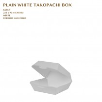 PLAIN WHITE TAKOPACHI BOX 1000PCS/CTN