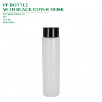 PRE-ORDER PP BOTTLE  WITH BLACK COVER 480ML