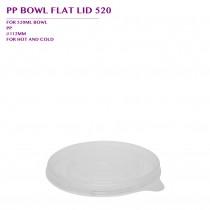 PRE-ORDER PP BOWL FLAT LID 520 1000PCS/CTN