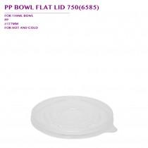 PRE-ORDER PP BOWL FLAT LID 750(6585) 600PCS/CTN