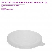 PRE-ORDER PP BOWL FLAT LID 850 AND 1000(8511) 600PCS/CTN
