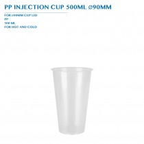 PP INJECTION CUP 500ML Ø90MM 50PCS x 20PKTS/CTN
