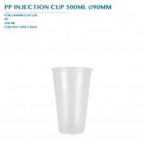 PP INJECTION CUP 500ML Ø90MM 50PCS x 20PKTS/CTN