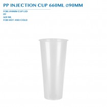 PP INJECTION CUP 660ML Ø90MM 50PCS x 20PKTS/CTN