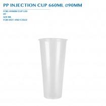 PP INJECTION CUP 660ML Ø90MM 50PCS x 20PKTS/CTN