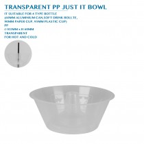 PRE-ORDER TRANSPARENT PP JUST IT BOWL