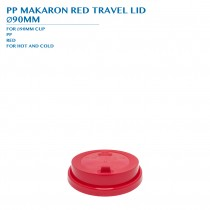 PRE-ORDER PP MACARON RED TRAVEL LID  Ø90MM PCS/CTN