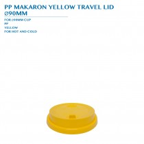 PRE-ORDER PP MACARON YELLOW TRAVEL LID  Ø90MM PCS/CTN