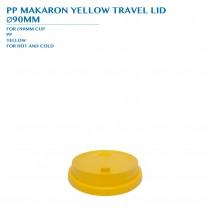 PRE-ORDER PP MACARON YELLOW TRAVEL LID  Ø90MM PCS/CTN