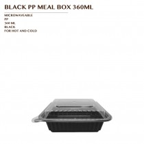 PRE-ORDER BLACK PP MEAL BOX 360ML 150SET/CTN