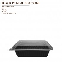 PRE-ORDER BLACK PP MEAL BOX 720ML 150SET/CTN
